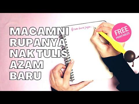 TARGET HIDUP Dan AZAM TAHUN BARU 2020 | Cara Menulis + Free Printable Guide