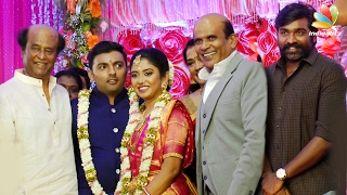 Rajini, Vijay Sethupathi at Actor Vagai Chandrasekhar Daughter Wedding Reception