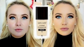 new wet n wild photofocus foundation   first impression review