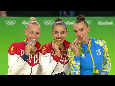 Rhythmic Gymnastics Rio 2016 - Individual AA Victory Ceremony (художественной гимнастике Рио 2016)