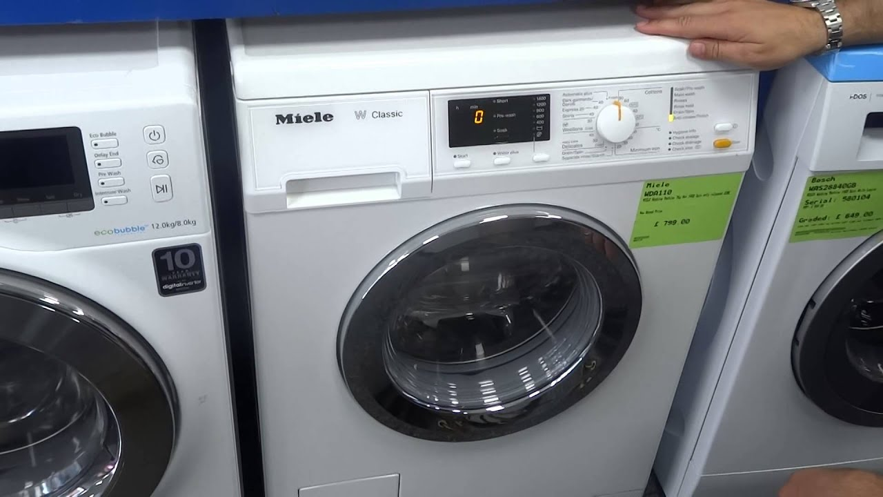 miele wda110 w classic 1400 spin 7kg washing machine youtube. Black Bedroom Furniture Sets. Home Design Ideas