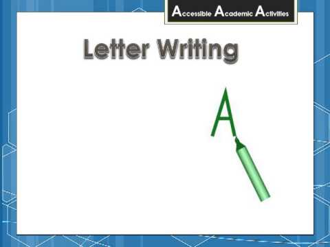Letter Writing Topic Page