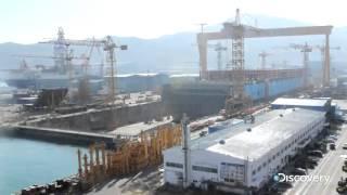 Construcción del buque más grande del mundo
