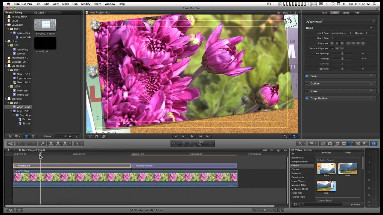 Fcpx motion 5 title text tip text positioning and for Motion 5 title templates