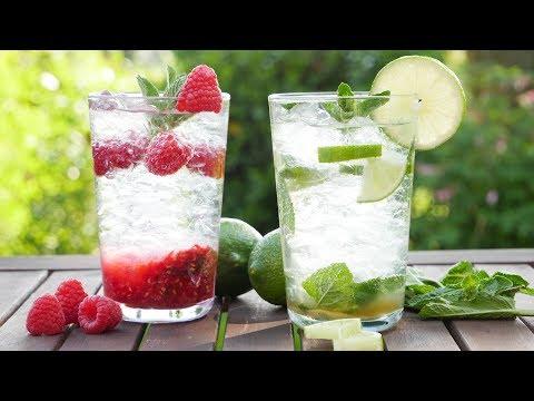 Virgin Mojito I Classic und Himbeere I Mojito Mocktail I Alkoholfrei