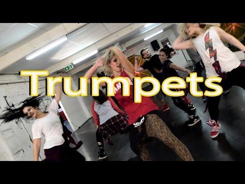 TrumpetsChallenge  Trumpets  Sak Noel & Salvi ft. Sean Paul  Jasmine Meakin Mega Jam