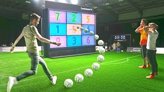 GIANT TV FOOTBALL CHALLENGE!