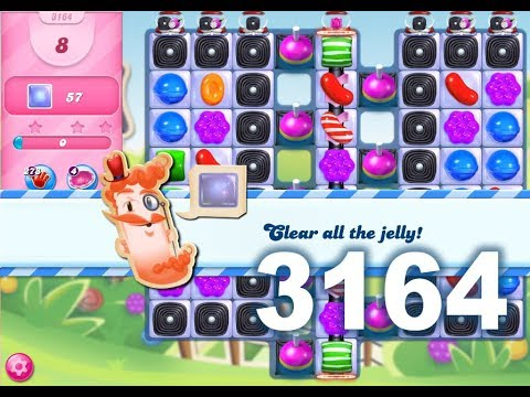 Candy Crush Saga Level 3164 (3 stars, No boosters)