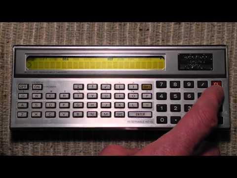 The Radio Shack TRS-80 Pocket Computer
