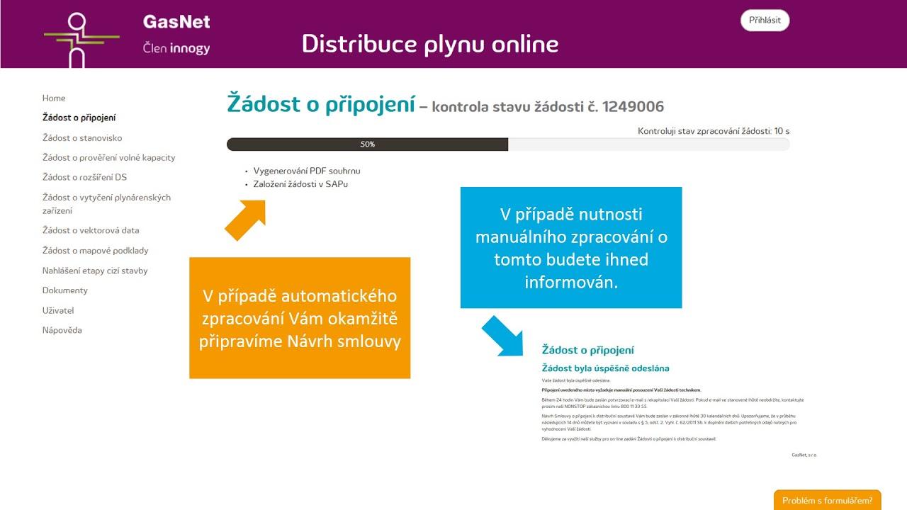 Online průvodce připojením