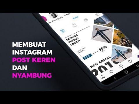Cara Membuat Instagram Post Puzzle Keren Dan Kekinian | Adobe Ilustrator