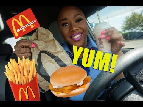 Car Eating Show! Mukbang! Watch me eat Lunch!! MCDonalds ...