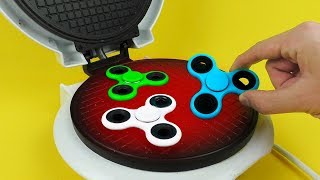 What if to Drop FIDGET SPINNER into Waffle Maker