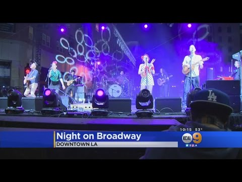 70,000 Flock To Downtown LA's Art And Music Event, Night On Broadway
