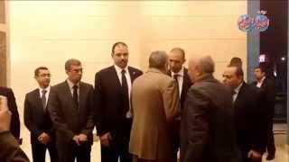 ياسر رزق يتقبل عزاء الغيطاني بمسجد المشير طنطاوي
