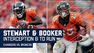 Darian Stewart's INT Leads to Devontae Booker's TD Run!   Chargers vs. Broncos   NFL