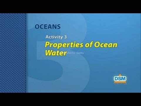 Oceans - Activity 3: Properties of Ocean Water
