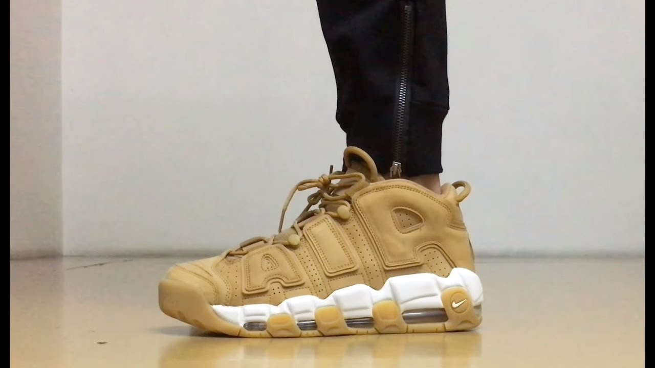 anatra Reattore etica  ON FEET] Nike Air More Uptempo '96 Premium Flax/Wheat - YouTube