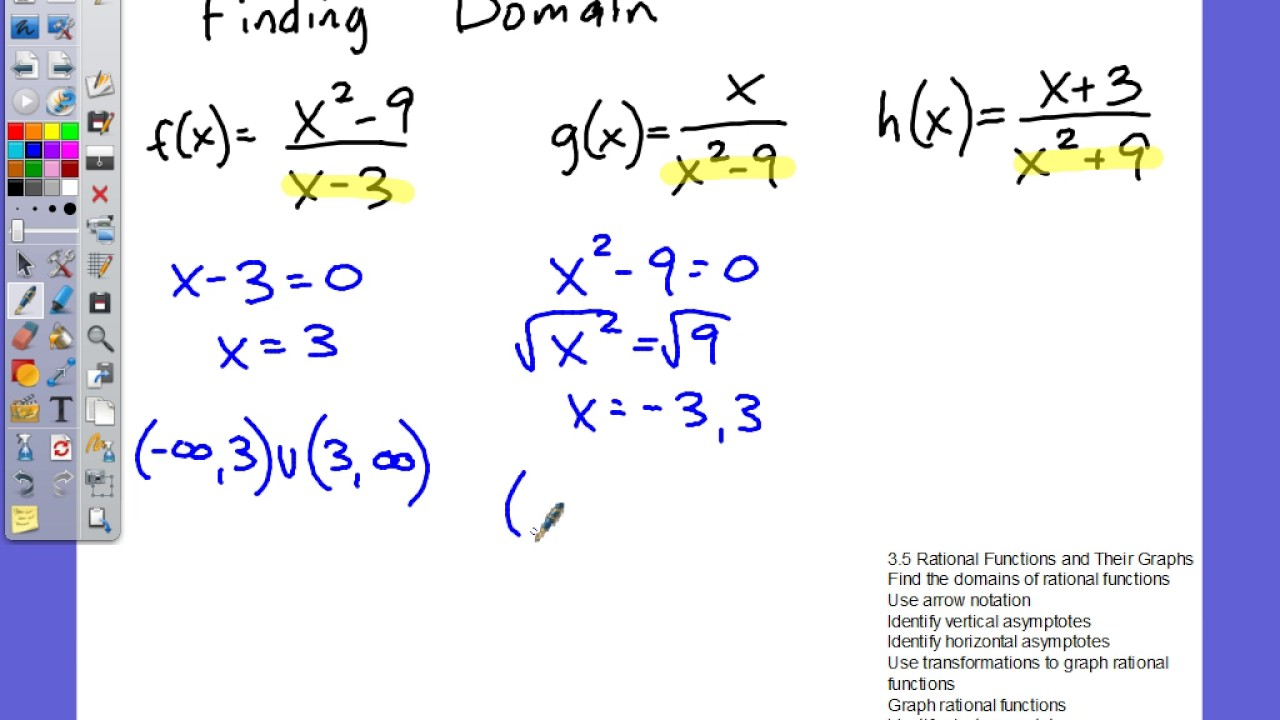 Aawt 3 5 Rational Functions And Their Graphs Finding Domain Equation For Vertical  Asymptote Talkchannels Hyperbola
