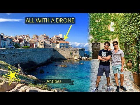 EXPLORING ANTIBES, FRANCE, OLD TOWN, AND  MARINA!!! (With Drone)