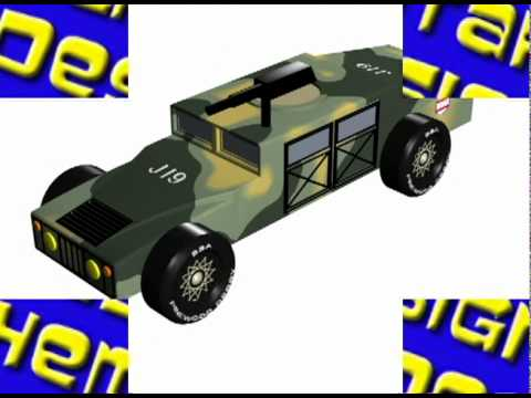 pinewood derby car design - YouTube