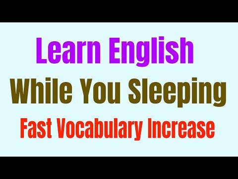 Learn English While You Sleeping ★ Fast Vocabulary Increase ★ 学习英语睡觉 ★ تعلم الانجليزية في النوم ✔