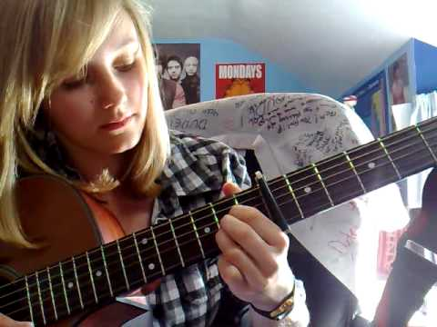 How to play Trouble (NeverShoutNever) acoustic guitar lesson *request*