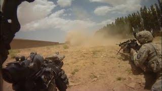 Embosacada de los talibanes a soldados americanos de la División 101 (GoPro).