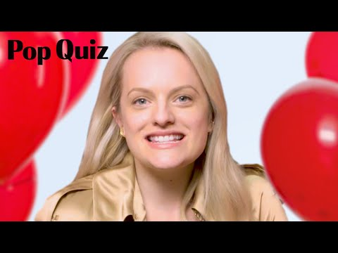 The Handmaid's Tale Star Elisabeth Moss Plays Pop Quiz   Marie Claire