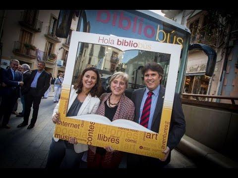 Inauguració bibliobús Viladrau - El desè bibliobús de la Diputació de Barcelona comença a rodar