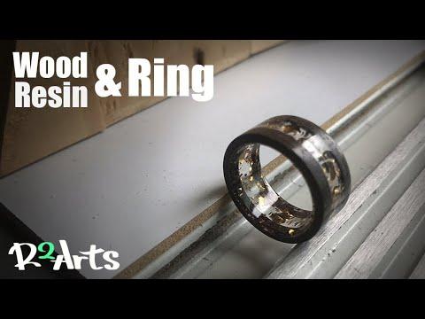 Making a Resin & Wood ring/레진 나무 반지 만들기/레진공예,레진아트.우드링