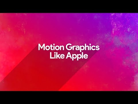 Motion Graphics Like Apple - After Effects - Easy Tutorial - Motion Window