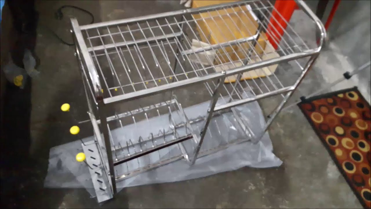 Unboxing And How To Assemble Premium Stainless Steel Wall Rack For Kitchen Utsensils With Review Youtube