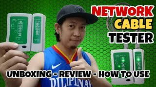 RJ45 & RJ11 NETWORK CABLE TESTER | Unboxing, Review and How to Use