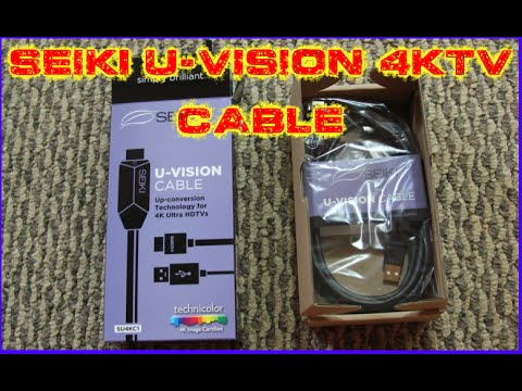 SEIKI U-VISION CABLE 4K UHD UPSCALE SET UP AND REVIEW