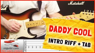 How To Play Daddy Cool by Boney M on Guitar (intro riff + TAB)