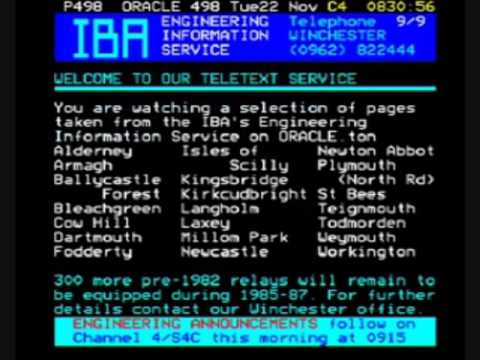 Channel 4 ORACLE Page Junction (22nd November 1983) Part 1