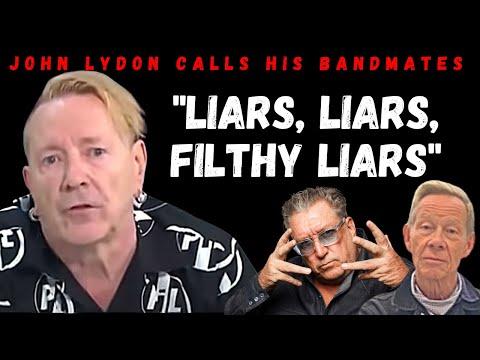 "John Lydon calling bandmates ""Filthy Liars"" on GMB  7/9/21"