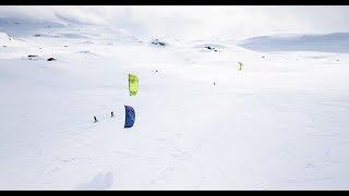 Snowkiting at Haukeliseter, Norway