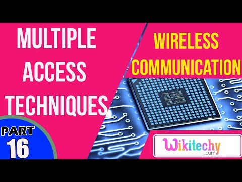 What are the multiple access techniques | Wireless Communication Interview Questions And Answers