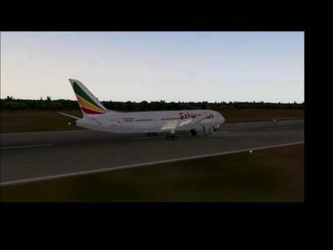X-Plane 10 Boeing 787 Ethiopian Airlines Harare International Landing