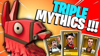 TRIPLE *MYTHIC* LEAD SURVIVORS!!! | Fortnite Save the World PvE | Super People Loot Llama Opening