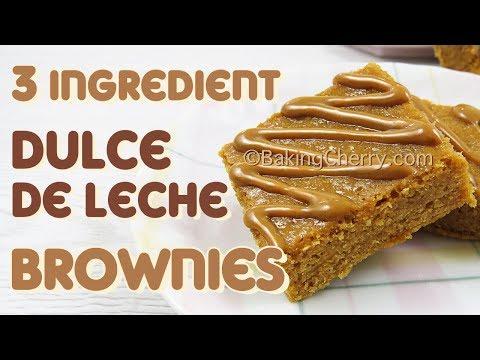 3 INGREDIENT DULCE DE LECHE BROWNIES | Easy Recipe | Dessert | Baking Cherry