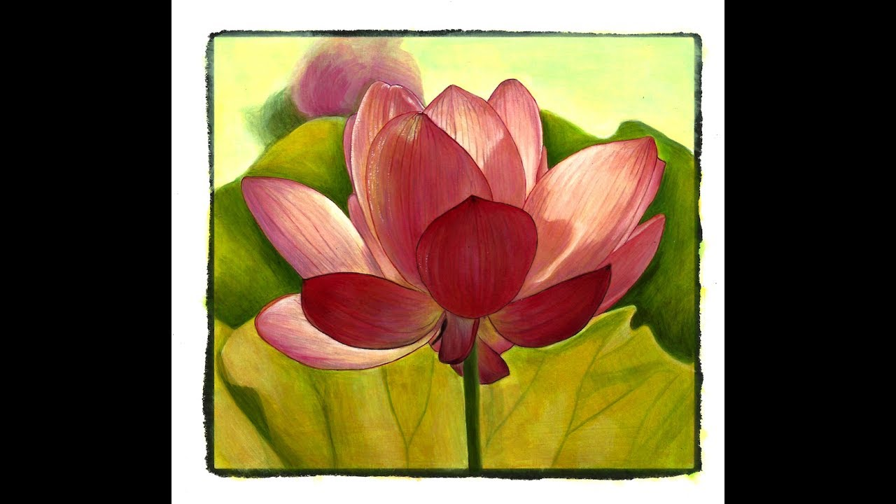 Painting Grayscale With Julie Flores The Lotus Flower From