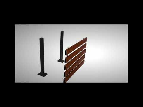 Longboard Freestanding Privacy Screen