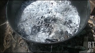 Easy Fire Pit Setup Using An Old Grill ~ Rick's Tips