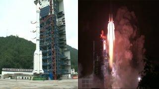 بالفيديو| الصين تطلق أول قمر صناعي للاتصالات المتنقلة