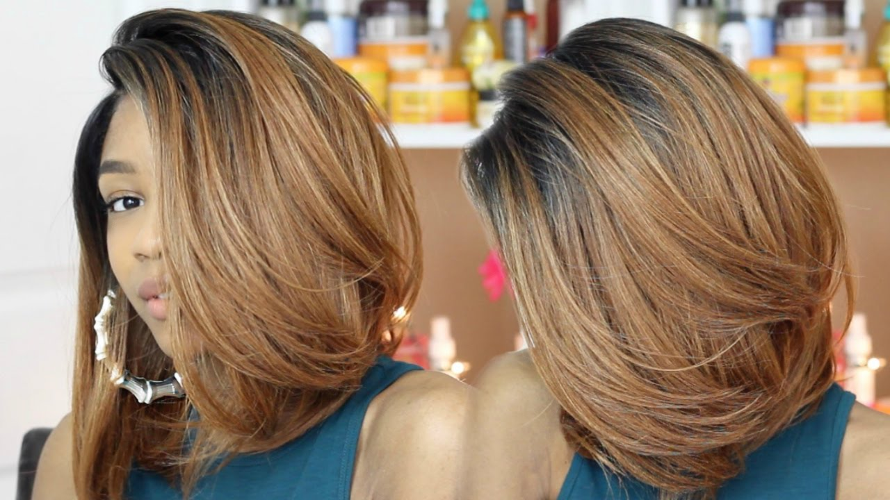Honey Blonde Bob Wig Review The Stylist Savvy Bob Ot30