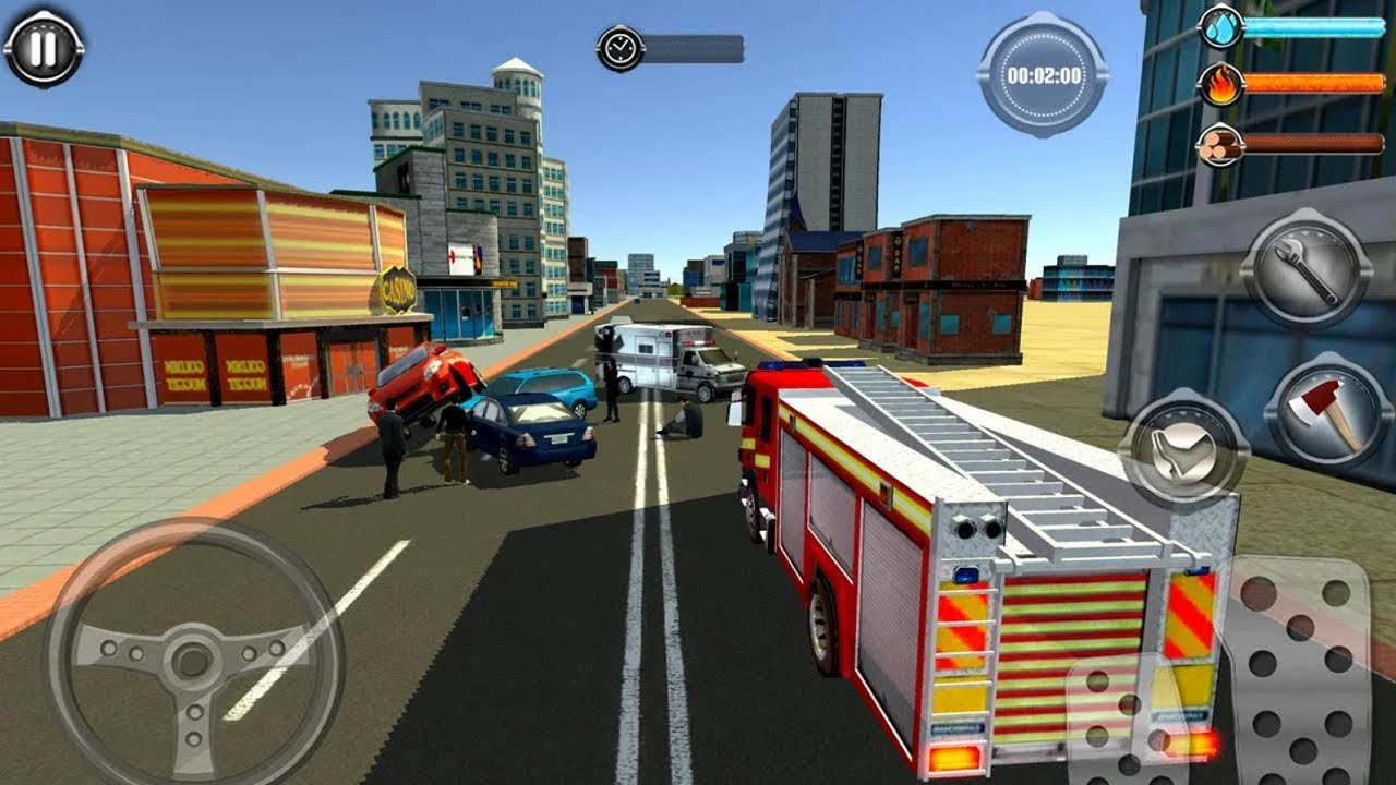 NY City FireFighter 2019 - Fire Truck Driver Rescues 3D - Android Gameplay