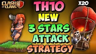 GOVOLALOON | TH10 NEW STRONG 3 STARS WAR ATTACK STRATEGY | CLASH OF CLANS